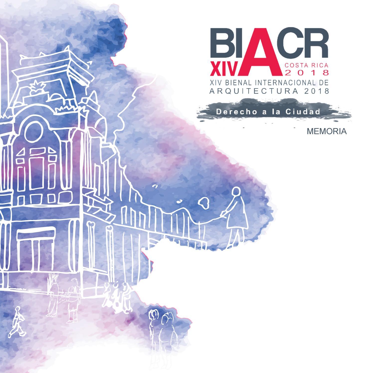 Memoria Bienal Internacional de Arquitectura 2018 by CACR ...