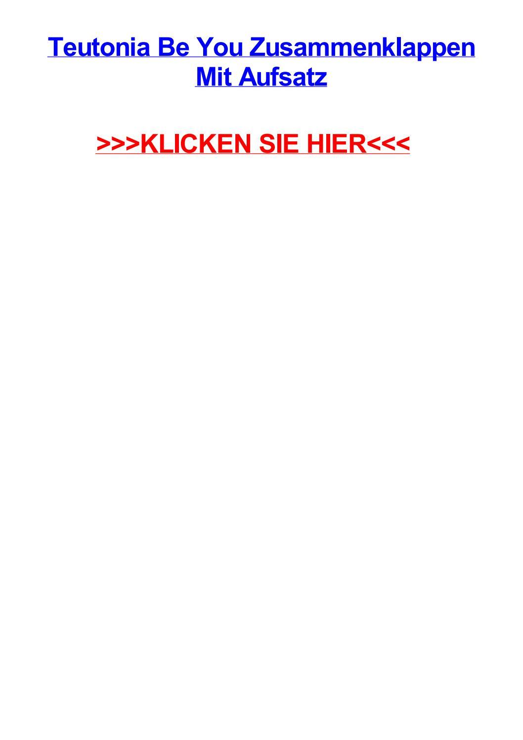 Teutonia be you zusammenklappen mit aufsatz by angelamdeoh - issuu