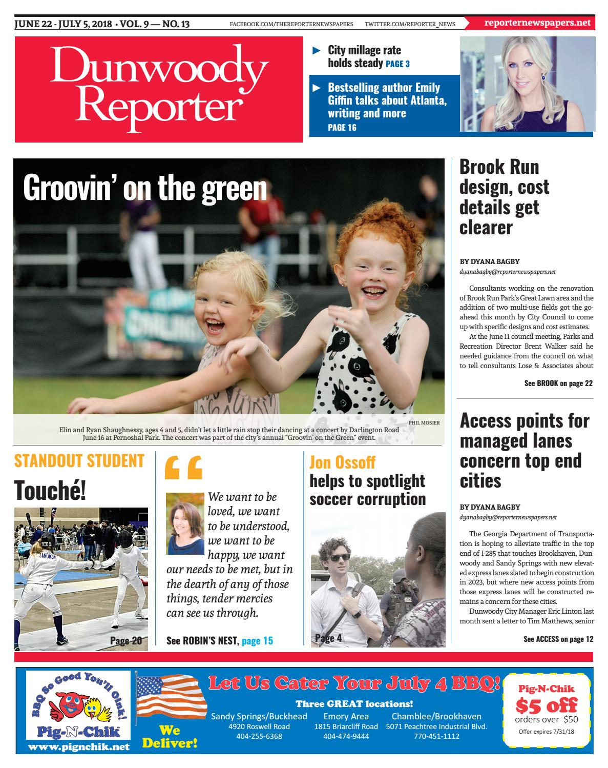 cad948489e284 06-22-18 Dunwoody Reporter by Reporter Newspapers - issuu