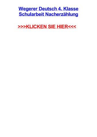 Wegerer Deutsch 4 Klasse Schularbeit Nacherzhlung By