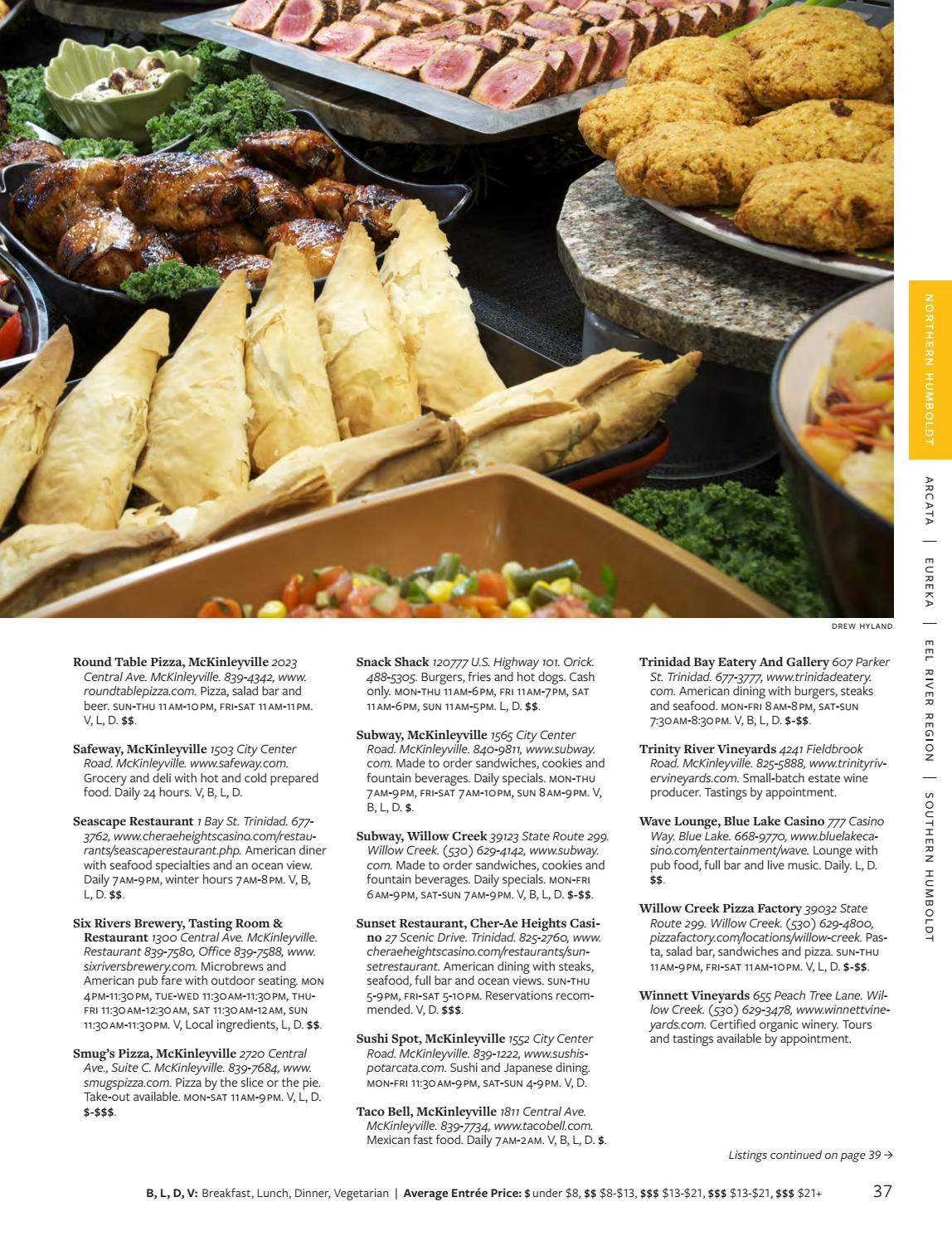 Menu of Menus 2018 by North Coast Journal - issuu