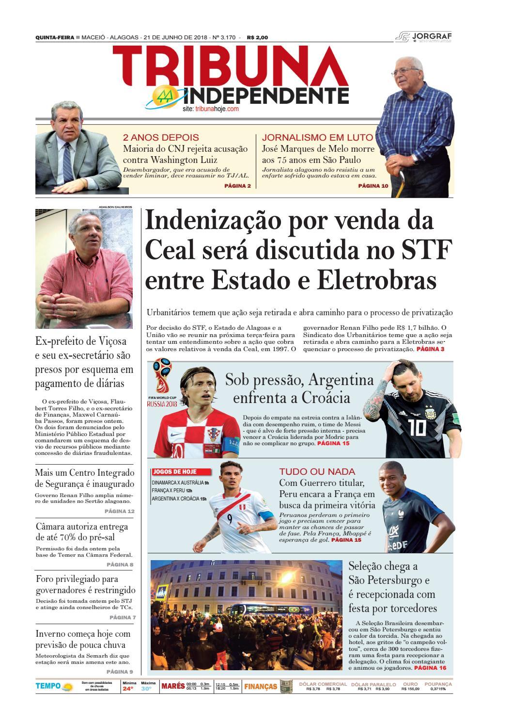 Edição número 3170 - 21 de junho de 2018 by Tribuna Hoje - issuu 6c8410d8525c
