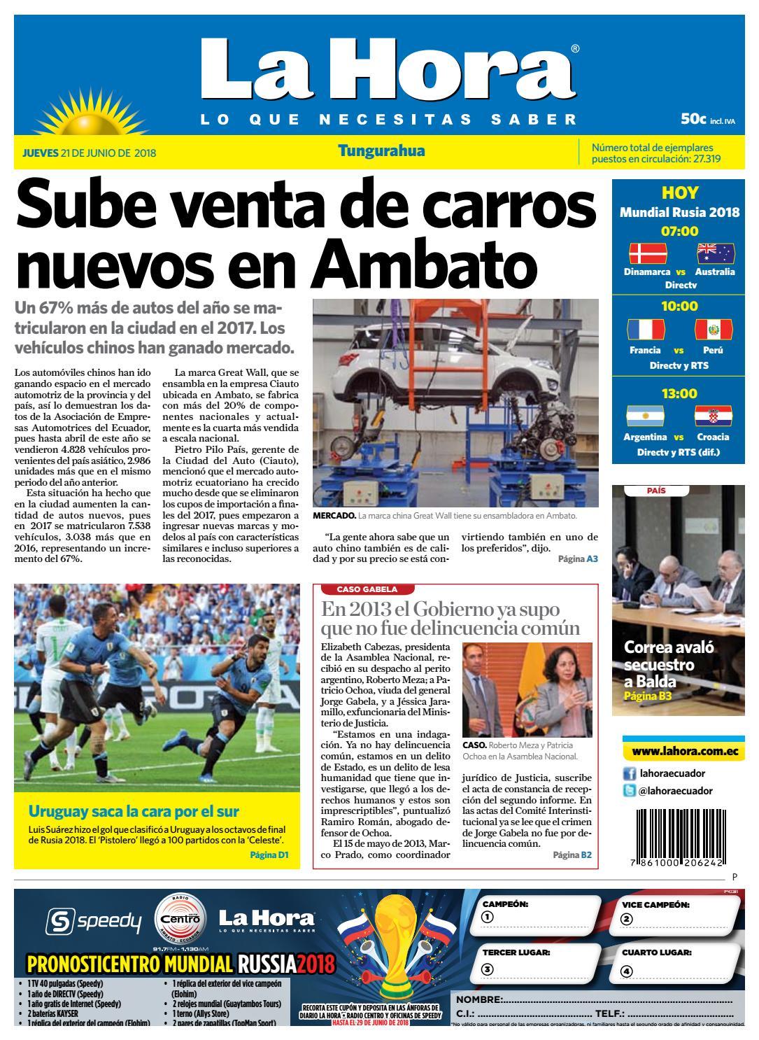 Tungurahua 21 de junio de 2018 by Diario La Hora Ecuador - issuu 43acd0dd132