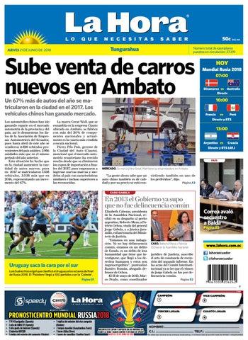 Tungurahua 21 de junio de 2018 by Diario La Hora Ecuador - issuu 73b12a54d998