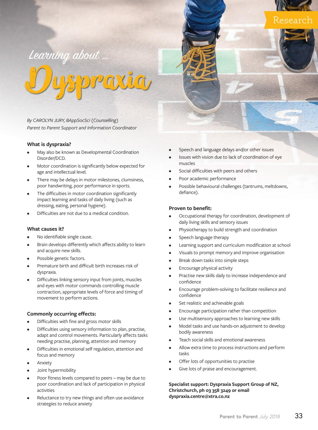 dyspraxia and anxiety