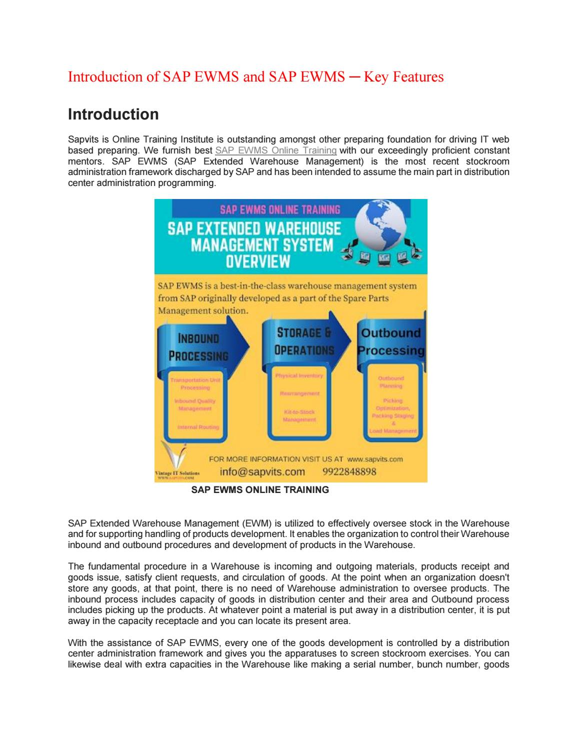 SAP EWM Material PDF by shruti allentics - issuu