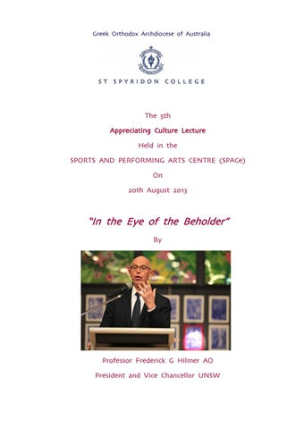 Appreciating Culture 2013 by ST Spyridon College - issuu