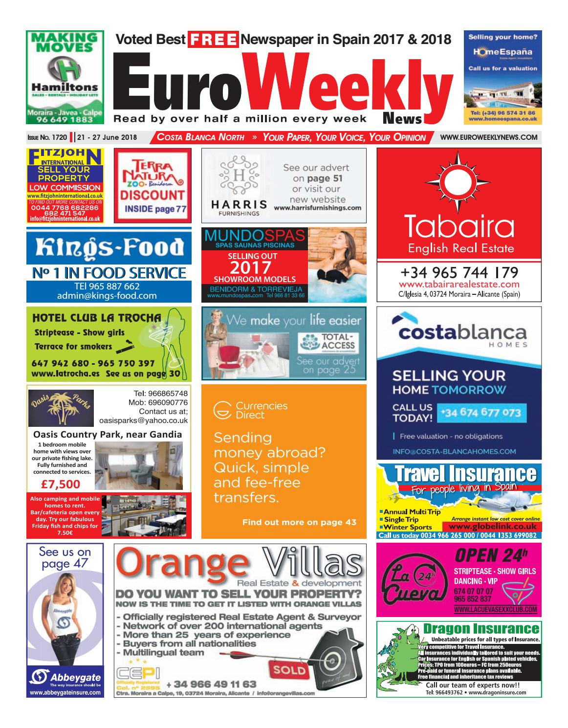 Euro Weekly News Costa Blanca North 21 27 June 2018