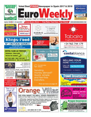 c90dbe3cb Euro Weekly News - Costa Blanca North 21 - 27 June 2018 Issue 1720 ...