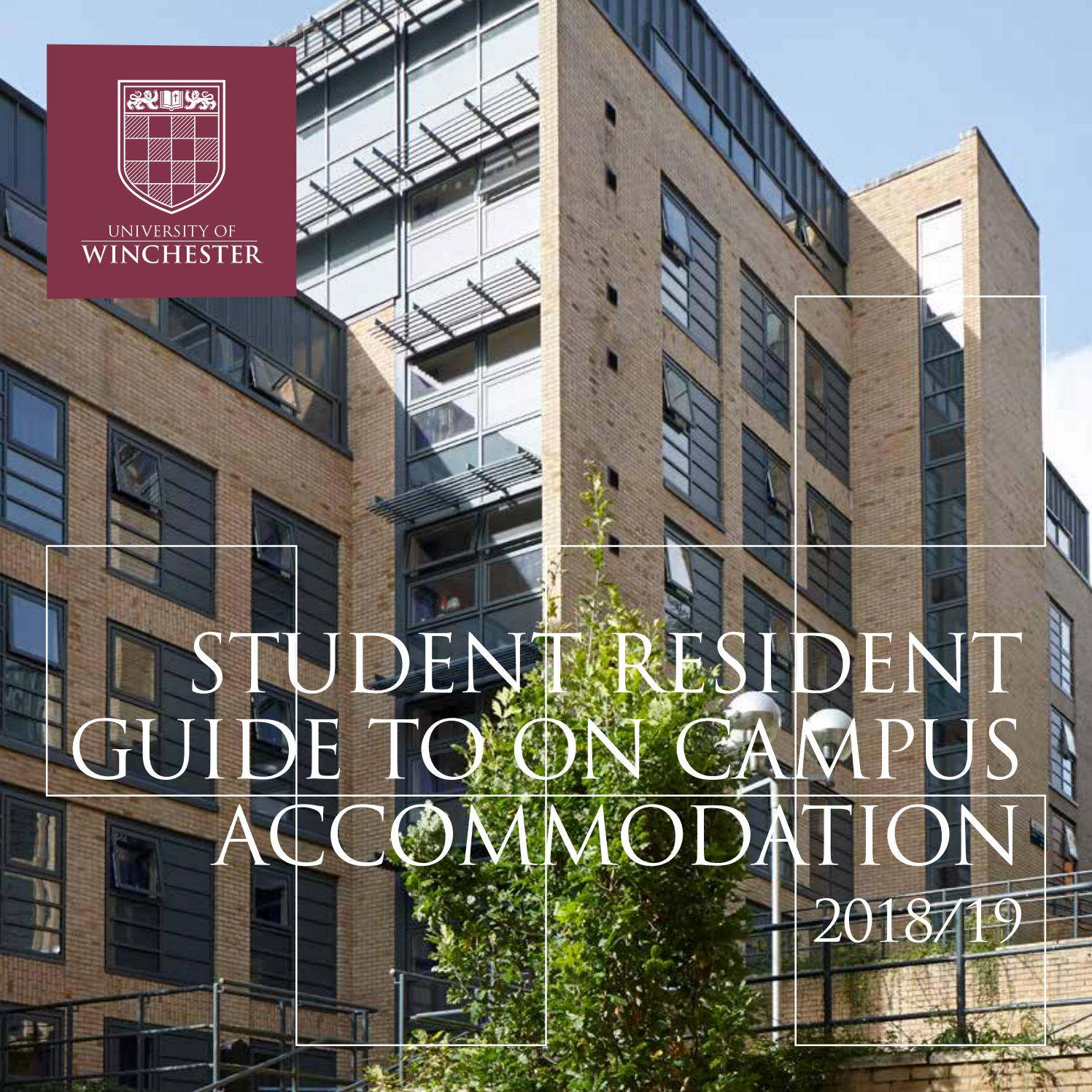 Student Resident Guide On Campus And Regulations 2018 19