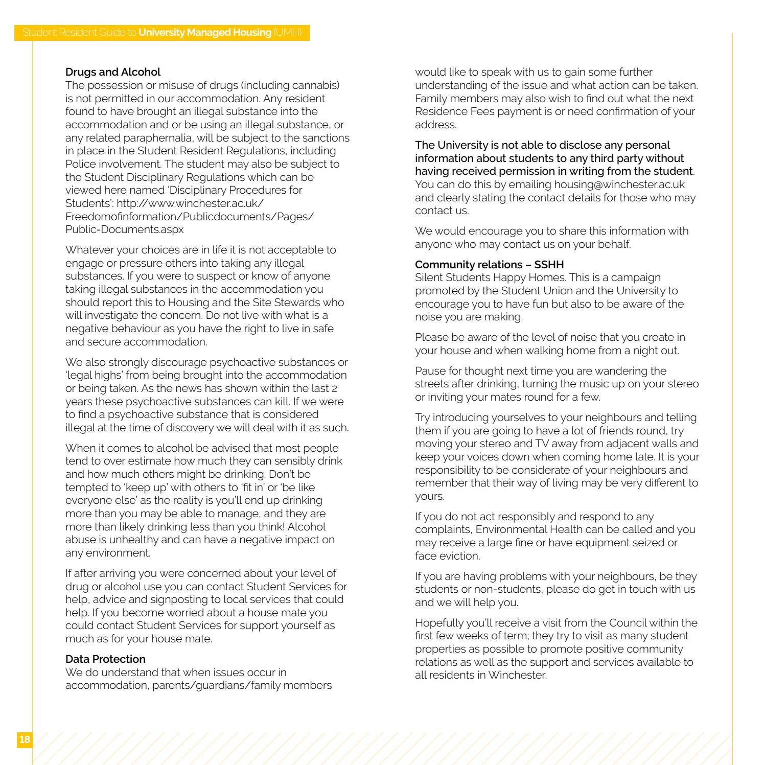Student resident guide off campus and regulations 2018 19[1]