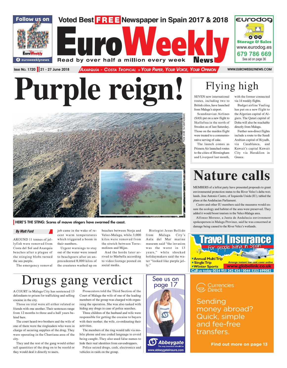 Euro Weekly News - Axarquia 21 - 27 June 2018 Issue 1720 by Euro ...