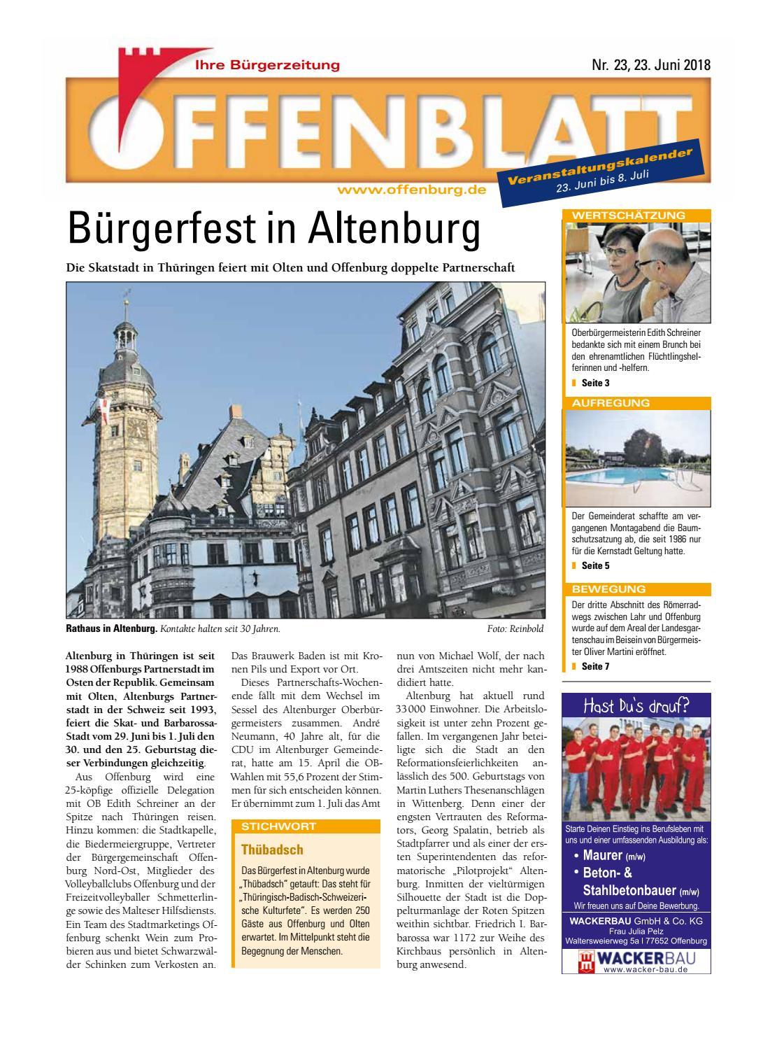 Offenblatt 23 2018 by Offenburg Offenblatt - Issuu