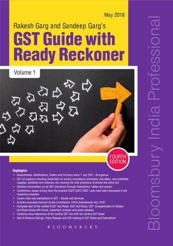 Rakesh Garg And Sandeep Gargs GST Guide With Ready Reckoner