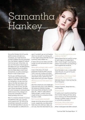 Page 9 of Spotlight on... Samantha Hankey