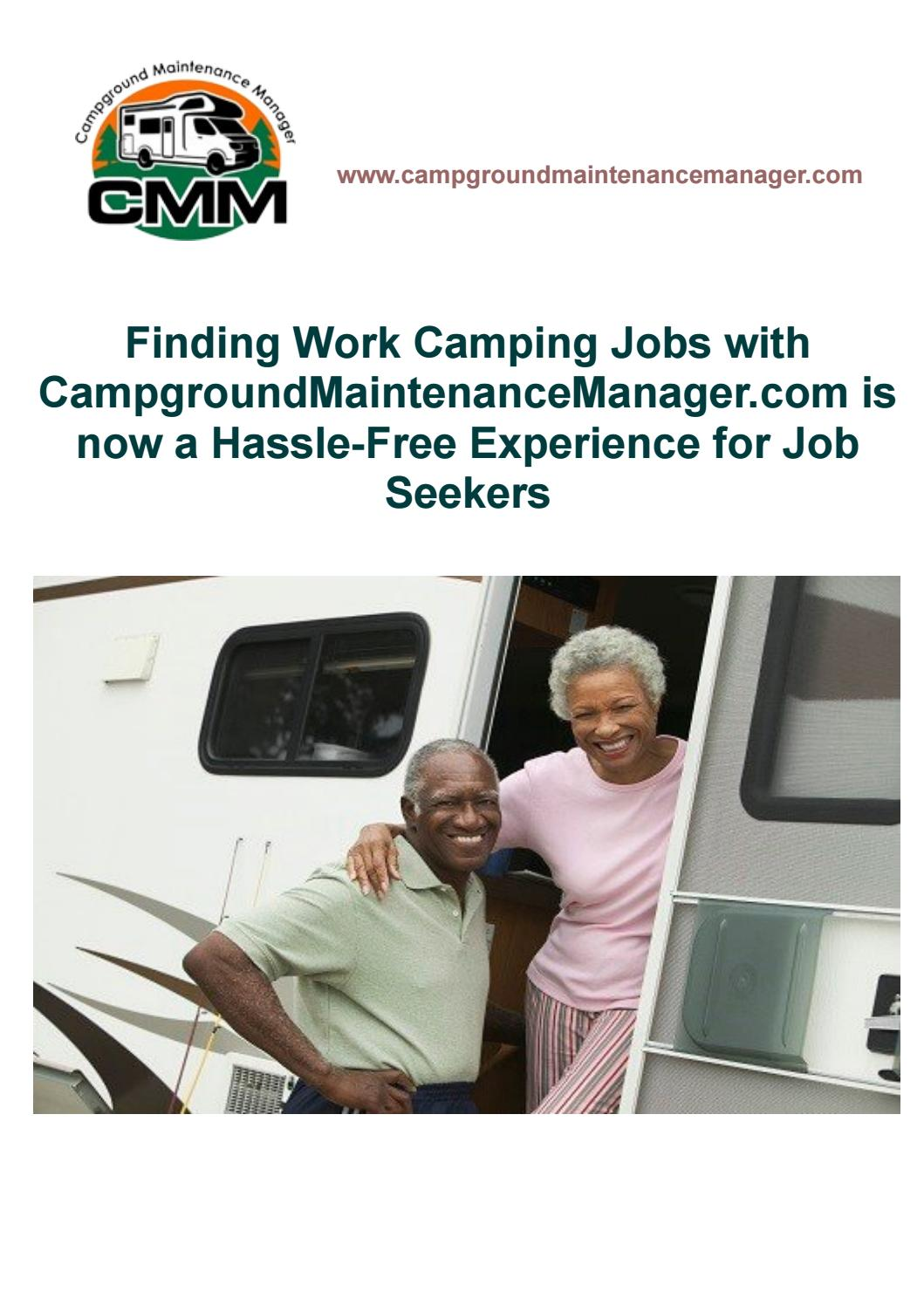 Finding Work Camping Jobs with CampgroundMaintenanceManager.com is now a Hassle-Free Experience