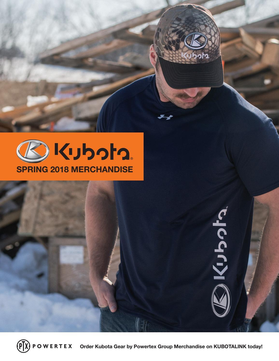 KUBOTA Men/'s Black Orange T-SHIRT Tee