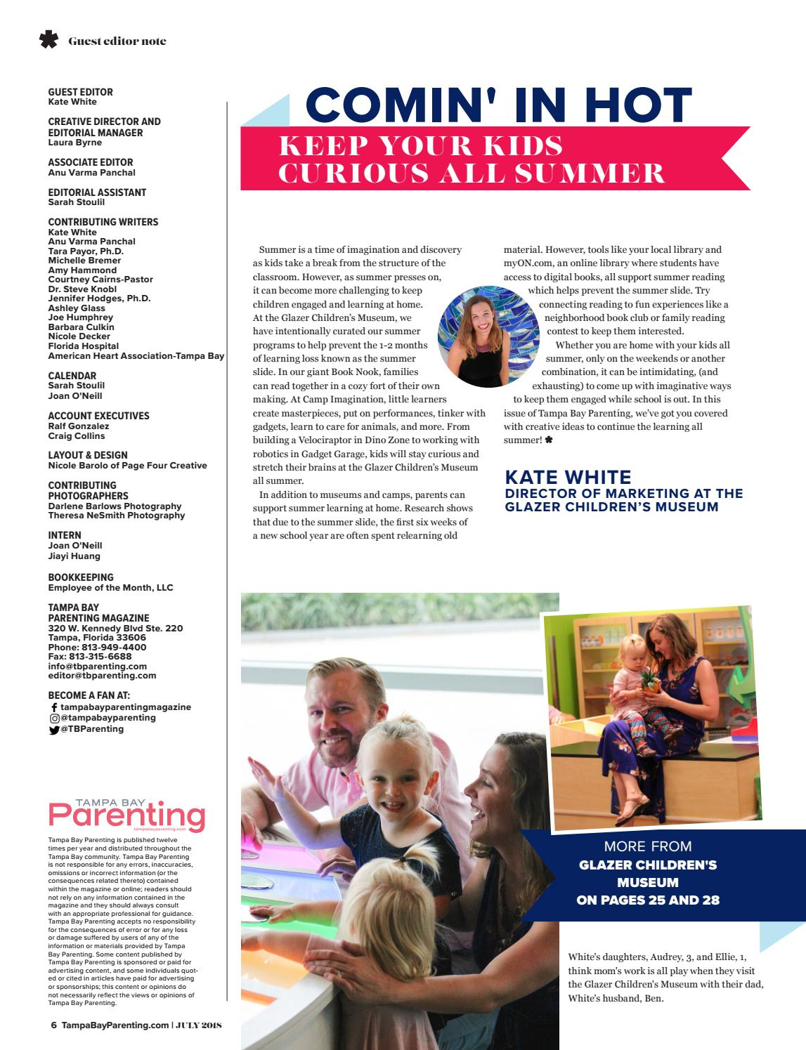 July 2018 by Tampa Bay Parenting Magazine - issuu