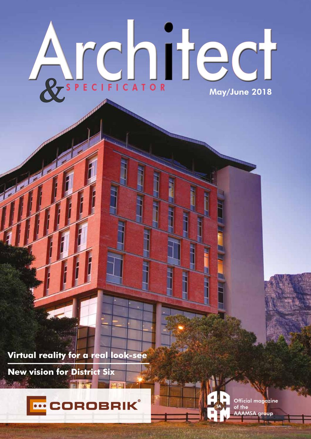 Architect & Specificator May June 2018 by Promech Publishing