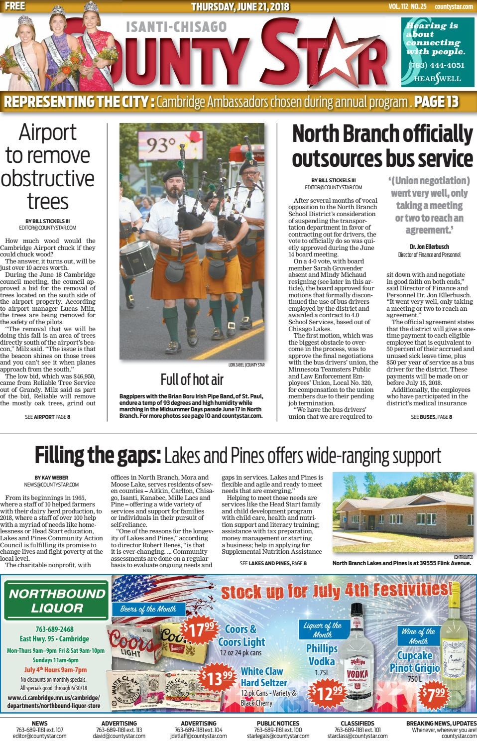 Isanti-Chisago County Star June 21, 2018
