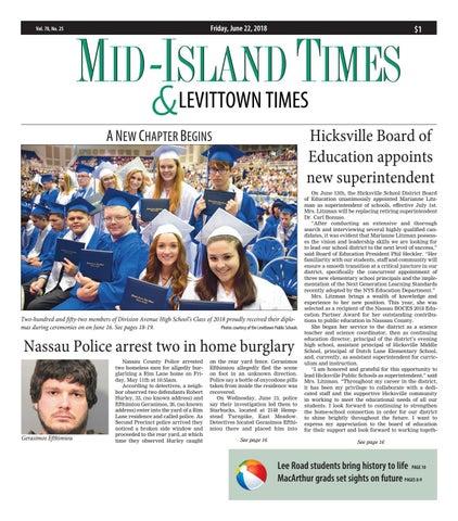 Mid-Island Times & Levittown News (6/22/18) by Litmor