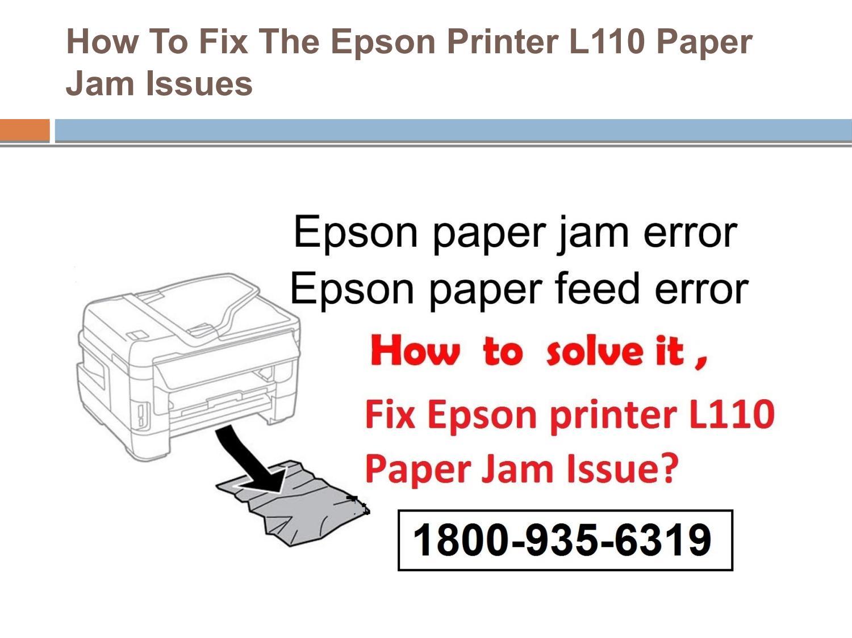Epson L360 Paper Jam Error
