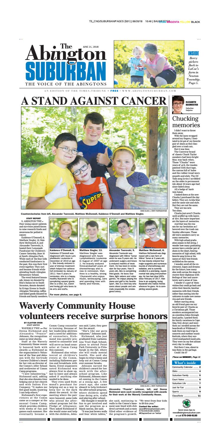 0a7f4e6372 The Abington Suburban--06-21-18 by CNG Newspaper Group - issuu