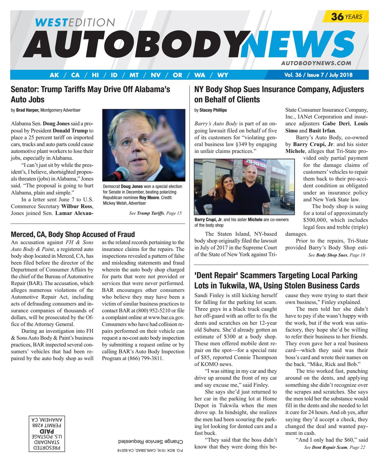 July 2018 West Edition By Autobody News Issuu Ppg Red Paint Code Honda Civic Codes Pioneer Car Radio Wiring