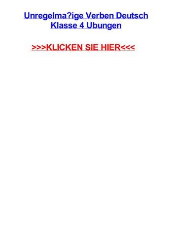 Unregelmaige Verben Deutsch Klasse 4 Ubungen By Emmanueljvndj Issuu