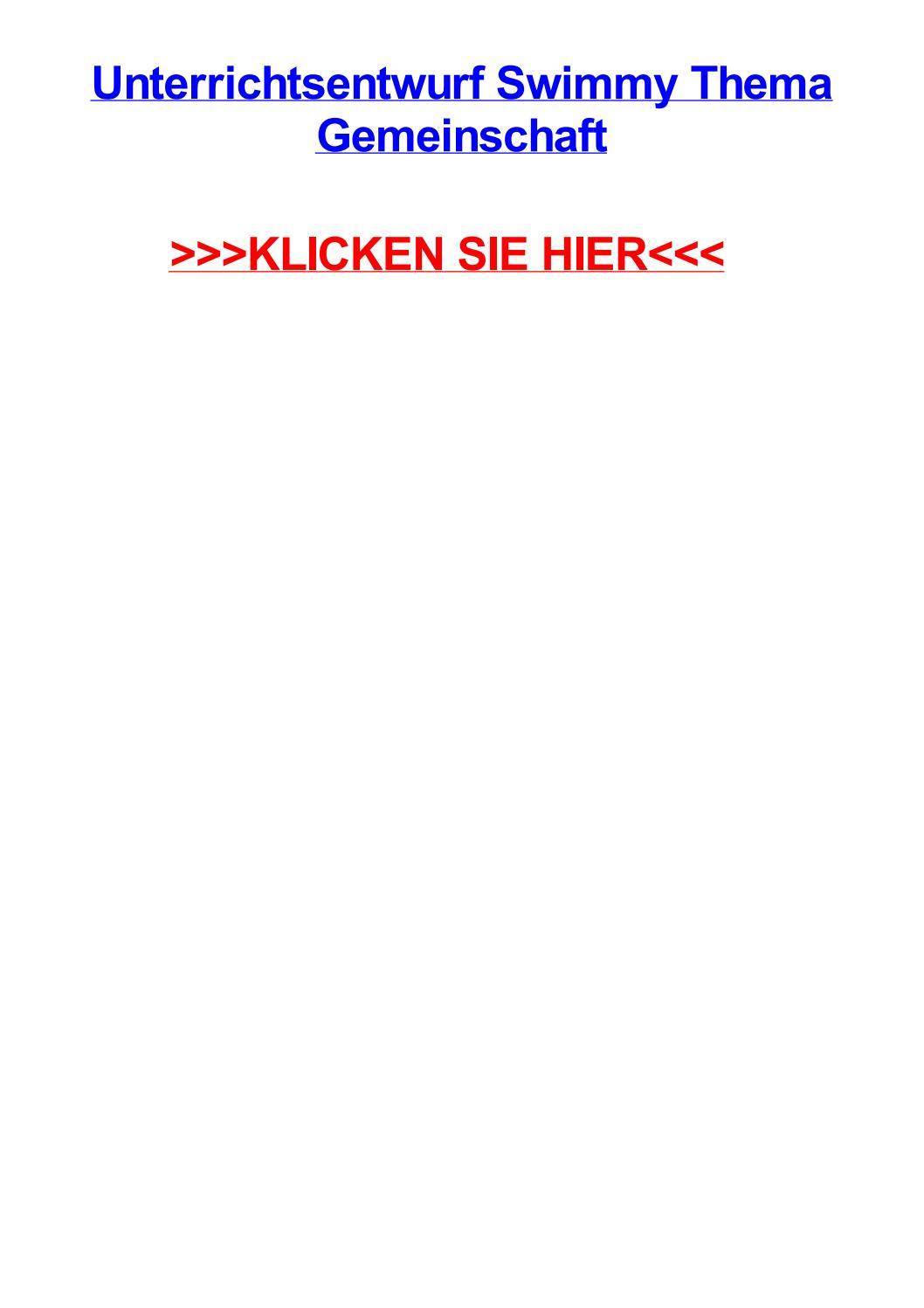Unterrichtsentwurf swimmy thema gemeinschaft by jenfvjts - issuu