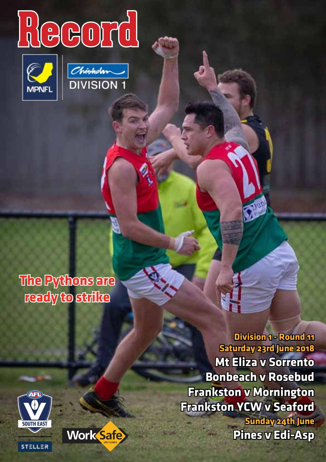5ae5d3002 Mpnfl record week 11 web june 30 by AFL South East - issuu