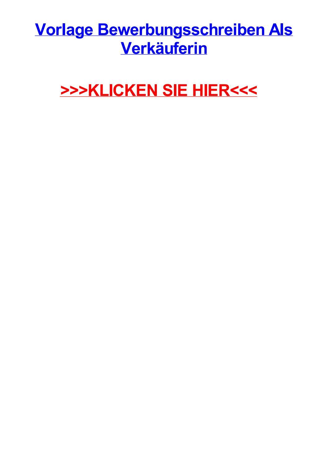 Vorlage bewerbungsschreiben als verkuferin by sandrauhjzi - issuu