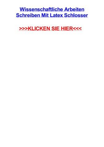 Wissenschaftliche Arbeiten Schreiben Mit Latex Schlosser By