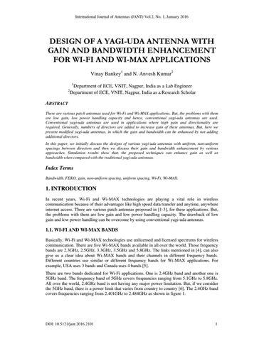 DESIGN OF A YAGI-UDA ANTENNA WITH GAIN AND BANDWIDTH