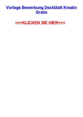 Vorlage Bewerbung Deckblatt Kreativ Gratis By Jillyyprs Issuu