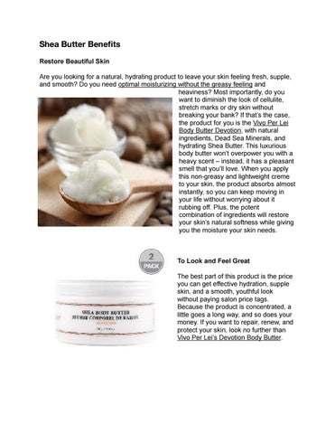 Shea butter benefits by Alona Jeans - issuu