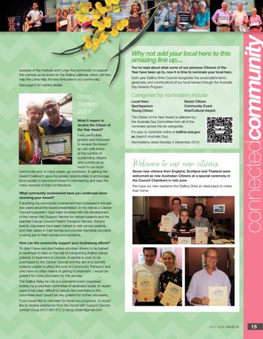 Page 15 of What our local heroes have been up to...