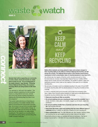 Page 32 of Meet Samala, Our New Waste Education Officer