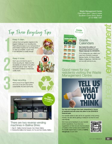 Page 33 of Top three recycling tips