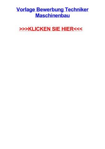 Vorlage Bewerbung Techniker Maschinenbau By Cordanyesmp Issuu