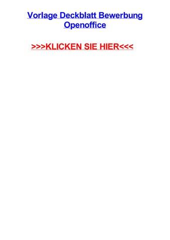 Vorlage Deckblatt Bewerbung Openoffice By Kimhpog Issuu