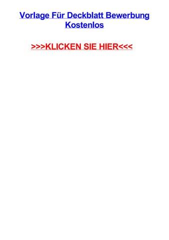 Vorlage Fjr Deckblatt Bewerbung Kostenlos By Scottnoqx Issuu