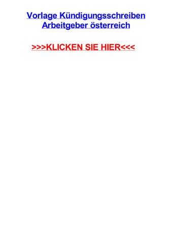 Vorlage Kjndigungsschreiben Arbeitgeber Sterreich By Kevinrwdek Issuu