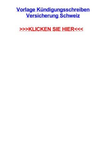 Vorlage Kjndigungsschreiben Versicherung Schweiz By Liveahuur Issuu