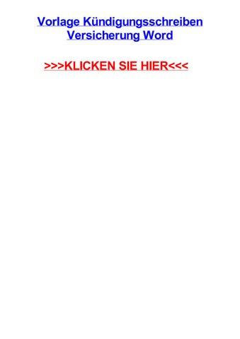 Vorlage Kjndigungsschreiben Versicherung Word By Amberrglkd Issuu