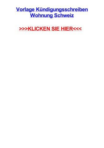 Vorlage Kjndigungsschreiben Wohnung Schweiz By Amandaljbog Issuu