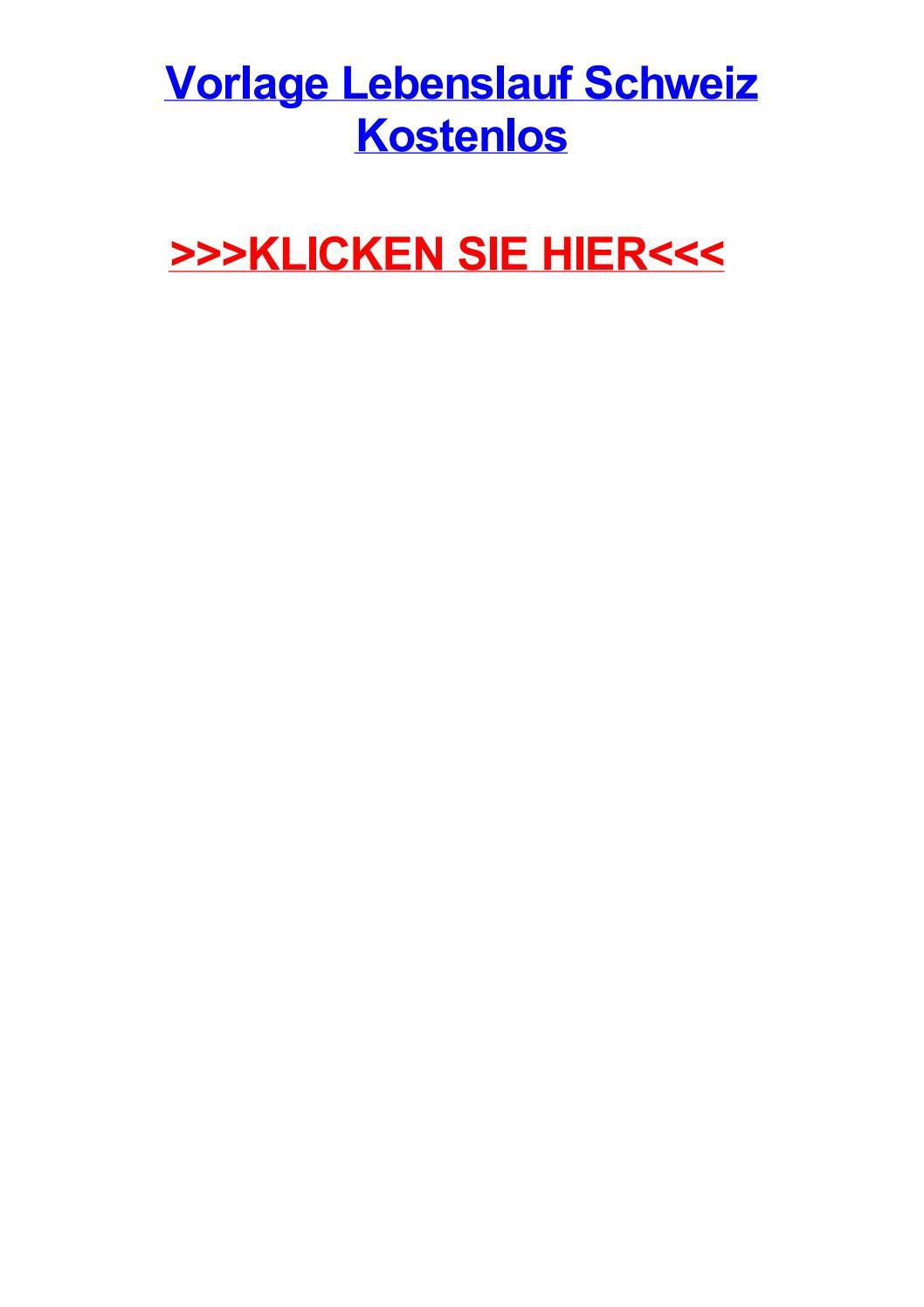 Vorlage Lebenslauf Schweiz Kostenlos By Angelamdeoh Issuu