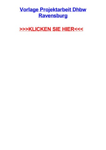 Vorlage Projektarbeit Dhbw Ravensburg By Wadersge Issuu