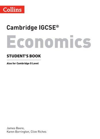 Cambridge IGCSE Economics Student S Book Preview By Collins