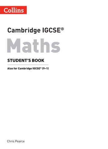 Cambridge IGCSE® Maths Student's Book Preview by Collins - issuu